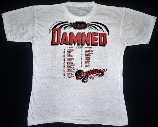 VINTAGE 1986 THE DAMNED T-SHIRT