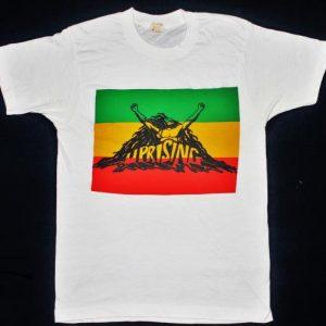 vintage 1980 BOB MARLEY & THE WAILERS - UPRISING t-shirt