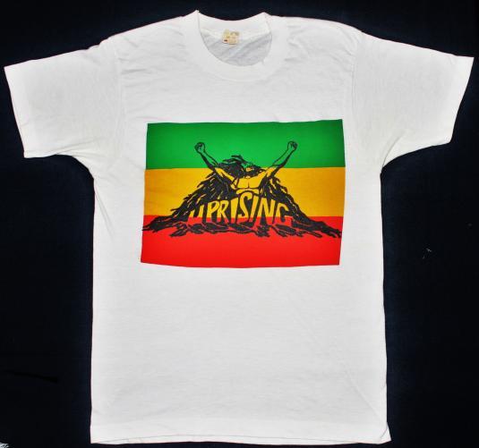 vintage 1980 BOB MARLEY & THE WAILERS – UPRISING t-shirt