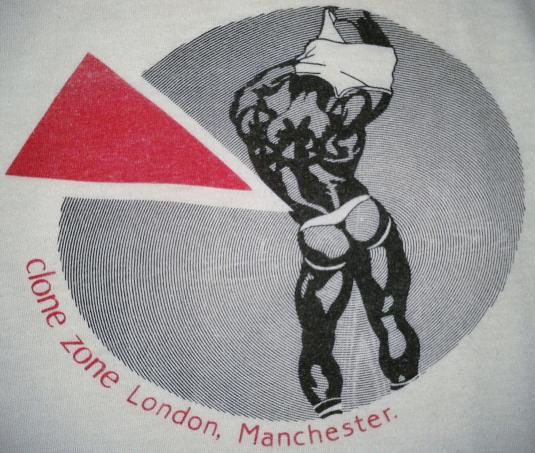 VINTAGE 80's CLONE ZONE GAY VILLAGE T-SHIRT