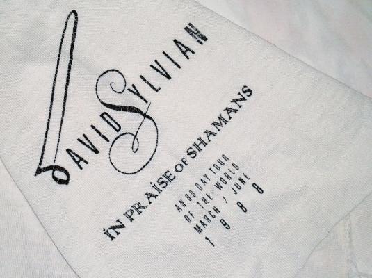 VINTAGE 1988 DAVID SYLVIAN – IN PRAISE OF SHAMAN T-SHIRT