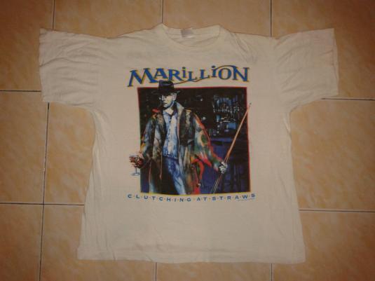 VINTAGE MARILLION – CLUTCHING AND STRAWS EURO TOUR T-SHIRT