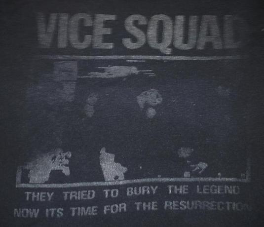 VINTAGE 1981 VICE SQUAD – RESURRECTION T-SHIRT
