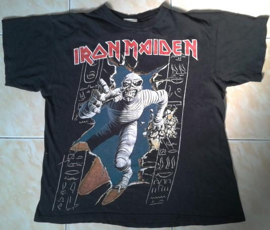 VINTAGE 1984 IRON MAIDEN POWERSLAVE T-SHIRT