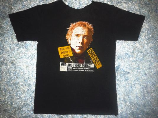 VINTAGE JOHNNY ROTTEN – WHO ARE THESE PUNKS T-SHIRT