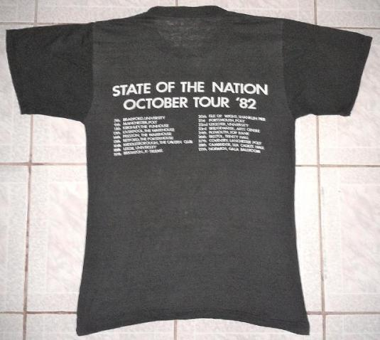 VINTAGE 1982 VICE SQUAD – STATE OF THE NATION T-SHIRT