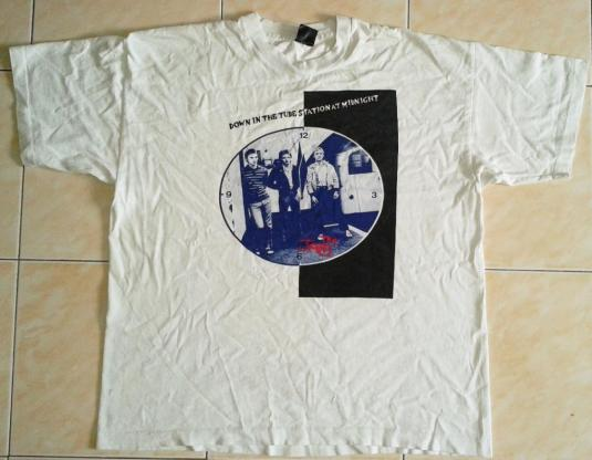 VINTAGE THE JAM – DOWN IN THE TUBE STATION AT NIGHT T-SHIRT