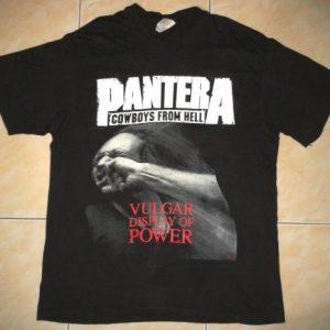 VINTAGE PANTERA - VULGAR DISPLAY OF POWER T-SHIRT