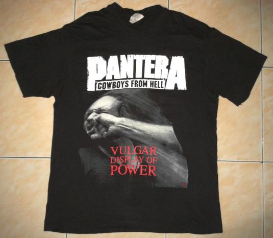 VINTAGE PANTERA – VULGAR DISPLAY OF POWER T-SHIRT