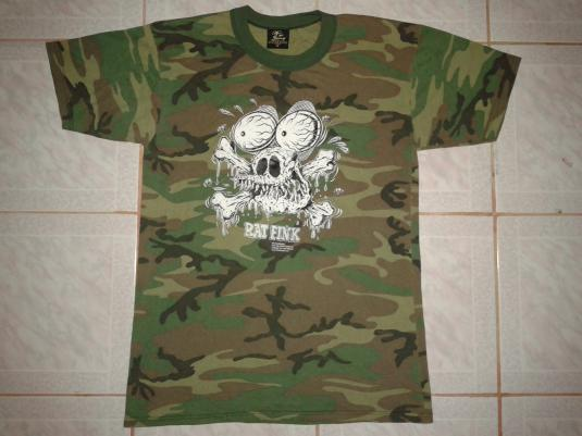 VINTAGE RAT FINK BY ED ROTH CAMO T-SHIRT