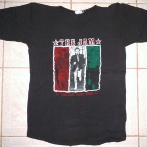 VINTAGE 1982 THE JAM - THE GIFT TOUR 1982 T-SHIRT