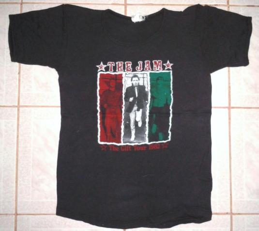 VINTAGE 1982 THE JAM – THE GIFT TOUR 1982 T-SHIRT