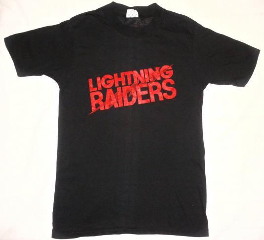 VINTAGE 1980 LIGHTNING RAIDERS T-SHIRT