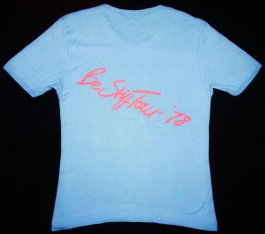 Vintage 1978 STIFF RECORDS Be Stiff Tour t-shirt