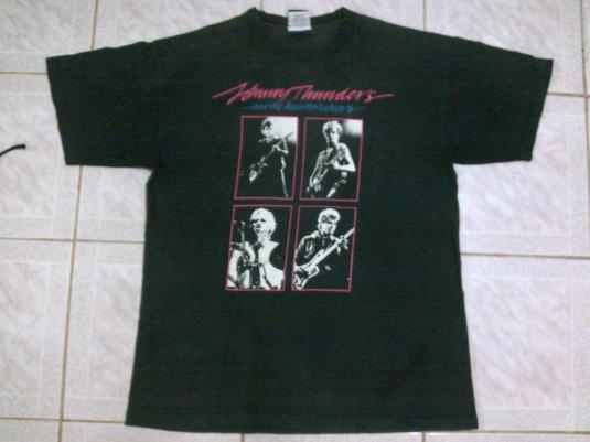 VINTAGE JOHNNY THUNDERS & THE HEARTBREAKERS L.A.M.F T-SHIRT