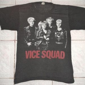 VINTAGE 1982 VICE SQUAD - STATE OF THE NATION T-SHIRT