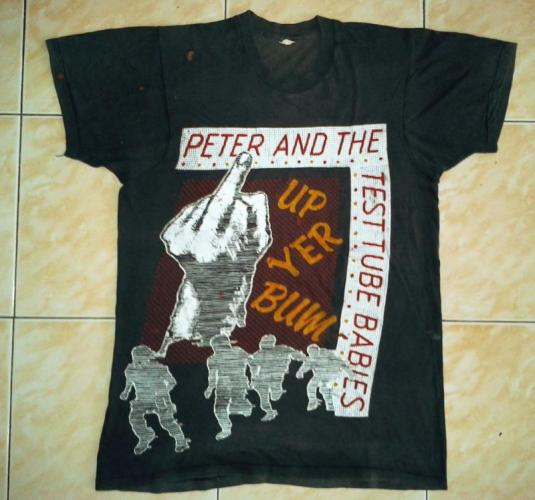 VINTAGE 1982 PETER AND THE TEST TUBE BABIES T-SHIRT