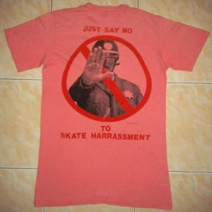 VINTAGE BALZOUT - JUST SAY NO TO SKATE HARRASMENT T-SHIRT