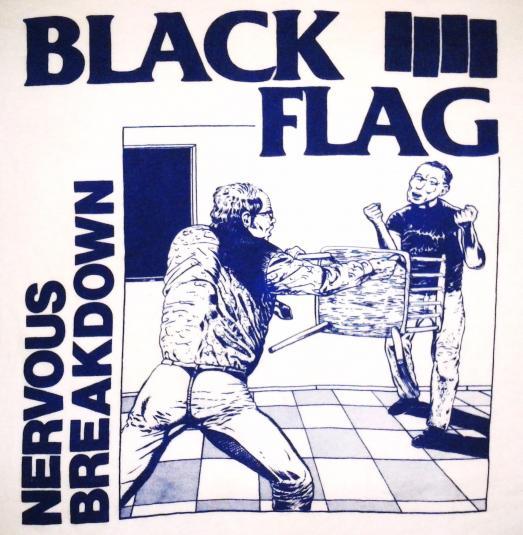 VINTAGE BLACK FLAG NERVOUS BREAKDOWN T-SHIRT