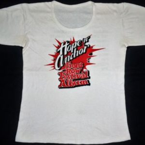 VINTAGE 1978 HOPE & ANCHOR FRONT ROW FESTIVAL T-SHIRT