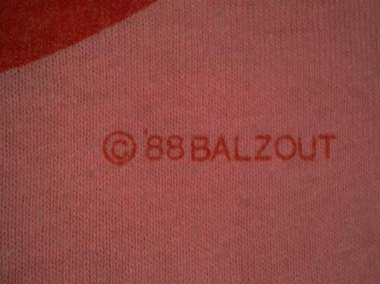 VINTAGE BALZOUT – JUST SAY NO TO SKATE HARRASMENT T-SHIRT