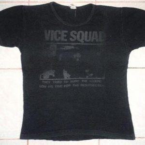 VINTAGE 1981 VICE SQUAD - RESURRECTION T-SHIRT
