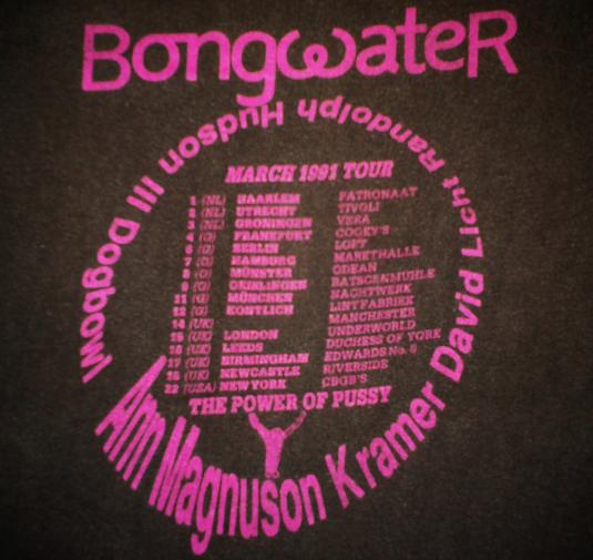 VINTAGE BONGWATER – THE POWER OF PUSSY T-SHIRT