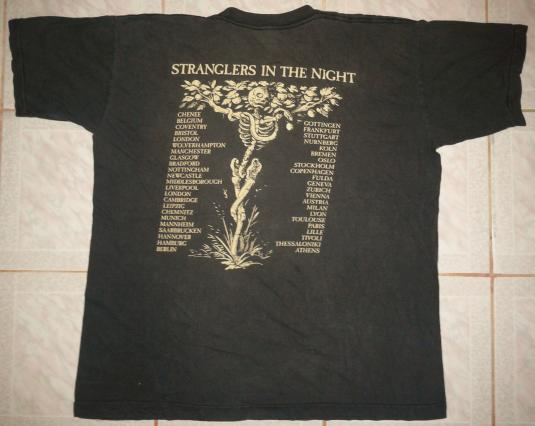 vintage 92 THE STRANGLERS – STRANGLERS IN THE NIGHT T-SHIRt