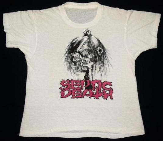 vintage 80's SEPTIC DEATH Pushead t-shirt