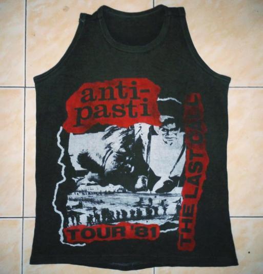 VINTAGE 1981 ANTI-PASTI – THE LAST CALL T-SHIRT