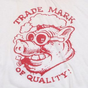 VINTAGE TRADEMARK OF QUALITY T-SHIRT BOOTLEG RECORD CO
