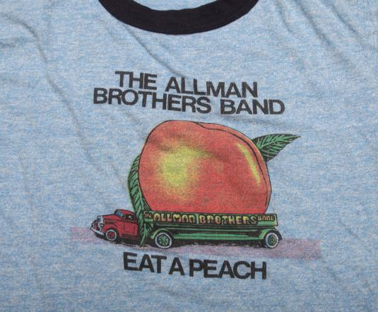 VINTAGE ALLMAN BROTHERS T-SHIRT EAT A PEACH PROMO TEE 1972