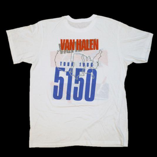 VINTAGE VAN HALEN 5150 CONCERT T-SHIRT 1986 TOUR XL 80S