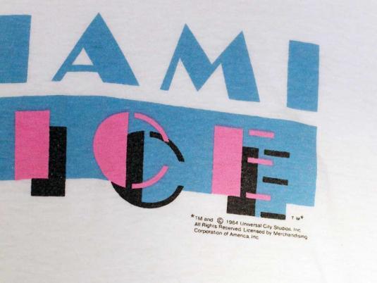 VINTAGE ORIGNAL MIAMI VICE 1980S T-SHIRT S/M
