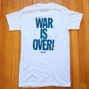 VINTAGE JOHN LENNON T-SHIRT WAR IS OVER ORIGINAL 70s 80s