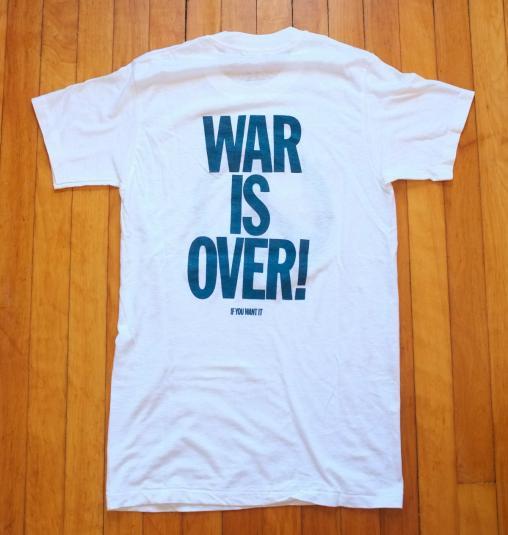 VINTAGE JOHN LENNON T-SHIRT WAR IS OVER ORIGINAL 70s 80s
