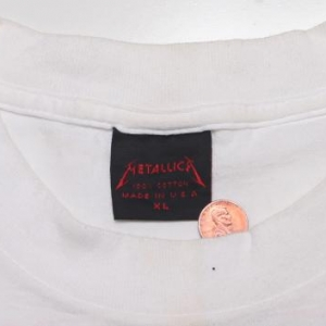 VINTAGE METALLICA T-SHIRT BLACK ALBUM CONCERT TOURXL 1991