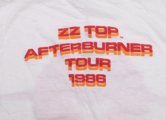 INTAGE ZZ TOP CONCERT SHIRT AFTERBURNER TOUR TEE 1986 S