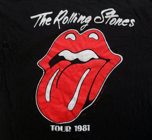 Vintage Rolling Stones 1981 Tour Shirt Mick Jagger