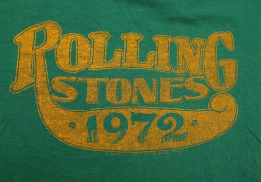 VINTAGE ROLLING STONES 1972 TOUR SHIRT STP MEGA RARE