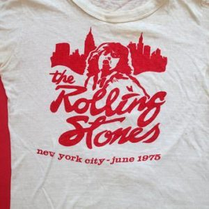 Rolling Stones 1975 Tour T-Shirt NYC Mick Jagger