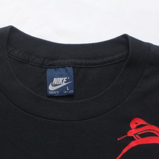 VTG NIKE AIR JORDAN SHOES BLUE TAG SHIRT 1980'S XL ORIGINAL