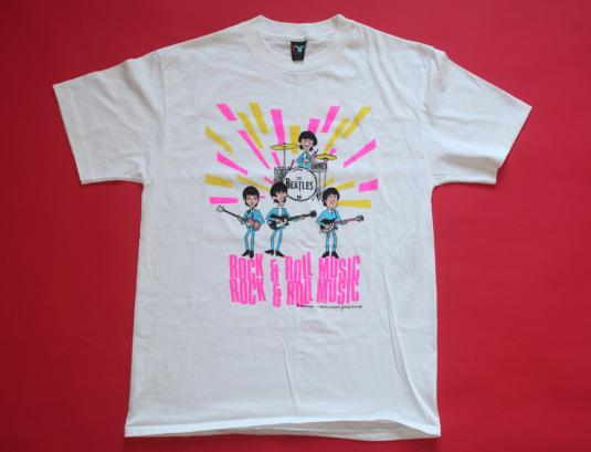 BEATLES VINTAGE T-SHIRT ROCK N ROLL 80s ORIGINAL 1980S L