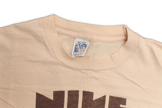 Vintage Original Nike Block Pinwheel T-shirt 1970s 70s M/L