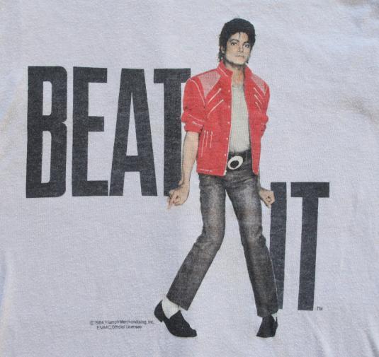 Vintage Michael Jackson BEAT IT Shirt 1980s 80s XS original