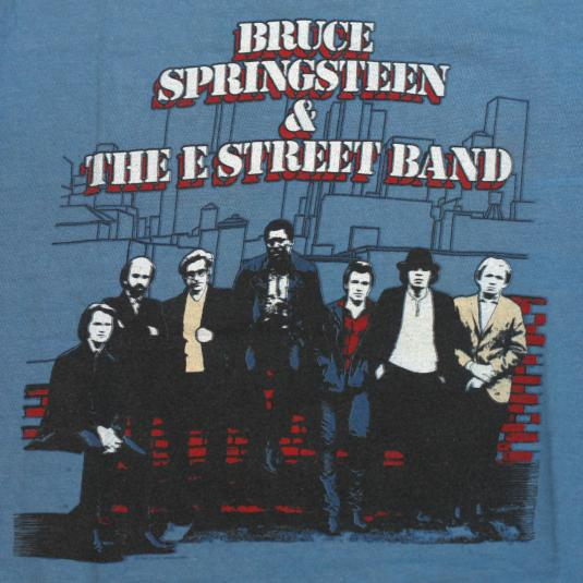 VINTAGE BRUCE SPRINGSTEEN & THE E STREET BAND T-SHIRT 80S M