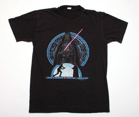 VINTAGE STAR WARS DARTH VADAR SHIRT 1980'S M MEDIUM