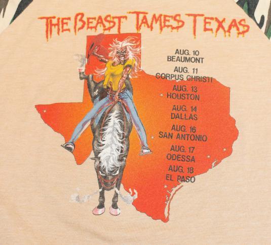 Vintage Iron Maiden Tour Shirt Camo 1982 Texas Event Concert