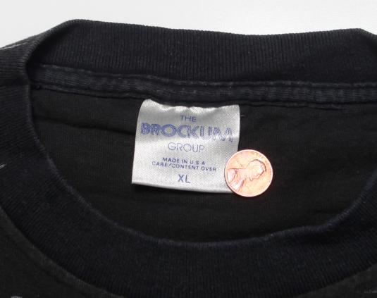 VINTAGE METALLICA T-SHIRT PUSHEAD ALLOVER 1992 92 XL ORIGINA