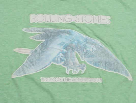 Vintage Rolling Stones 1975 T-shirt Tour of the Americas 70s